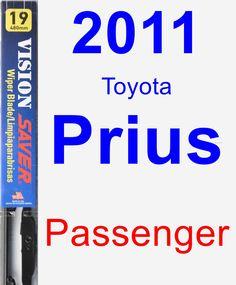 Passenger Wiper Blade for 2011 Toyota Prius - Vision Saver
