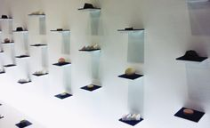 Pauline Deltour collaboration with Shibafune Koide / display of pastel hued sweets