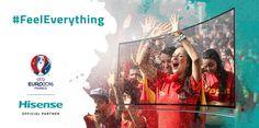 Hisense inicia la campaña #FeelEverything UEFA EURO 2016™. La compañía tecnológica de consumo Hisense, patrocinador principal de la UEFA Euro 2016, ha anunciado hoy su campaña #FeelEverything. La intención de esta campaña es transmitir las emociones de los partidos directamente a los seguidores, además de introducir una serie de productos Hisense de gran calidad. #Hisense #LifeReimagined #ChooseHisense http://www.hisense.es/notas-de-prensa.html