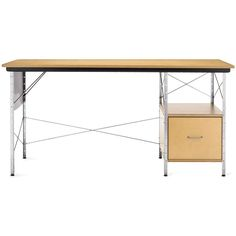 Charles and Ray Eames Eames® Desk Unit (EDU) ($1,291) ❤ liked on Polyvore featuring home, furniture, desks, tables, black and white furniture, modular shelving, shelves furniture, modular shelves and black and white dining set