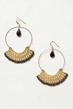 Fan hoop earrings Anthropologie