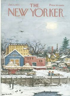 The New Yorker Cover - January 6, 1973 - Albert Hubbell