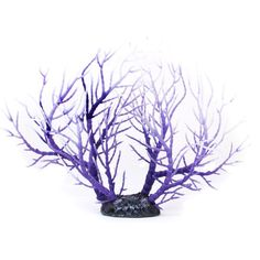 Aquarium Fish Tank Artificial C Ornament Aquatic Plants Decoration Purple White
