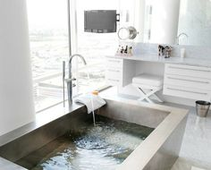 """""""View this Great Modern Master Bathroom with High ceiling & complex marble tile floors. Discover & browse thousands of other home design ideas on Zillow Digs. Bad Inspiration, Bathroom Inspiration, Home Decor Inspiration, Bathroom Ideas, Bathroom Bath, Bathroom Designs, Bath Room, Decor Ideas, Bathroom Goals"""