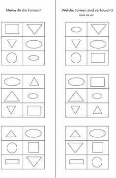 Lernstübchen: Arbeitsblätter zum Formen tauschen