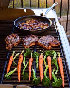 The first long weekend of the season is in the books. It was a different type of long weekend, but still fun and incredibly delicious! Here's to more weekends of happily grilling at home. Grill Pan, Long Weekend, Pork Chops, Nook, Sausage, Grilling, Type, Fun, Griddle Pan