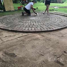 """See our website for even more info on """"patio pavers diy"""". It is actually a great area to learn more. Small Brick Patio, Brick Paver Patio, Circular Patio, Paver Walkway, Brick Garden, Brick Courtyard, Concrete Patio, Concrete Fire Pits, Flagstone"""