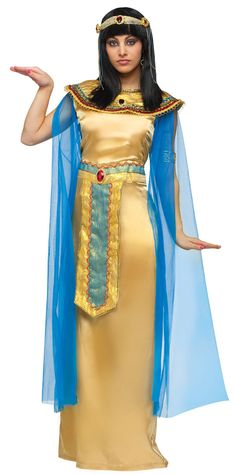 cleopatra  | Deluxe Golden Cleopatra Costume - Egyptian Costumes