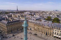 Place Vendôme, Paris.   Prise de vue aérienne professionnelle.   www.drone-immobilier.fr contact@drone-immobilier.fr