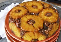 Brown Sugar and Rum Pineapple Upside Down Cake  #pineappleupsidedowncake #Cake