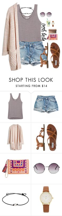 """""""Anything I can do to improve my account? Comment please :)"""" by madison426 ❤ liked on Polyvore featuring Rebecca Minkoff, Levi's, Steve Madden, Monki, Kate Spade and Urban Decay"""