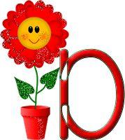 Alfabeto tintineante con maceta feliz. | Oh my Alfabetos!