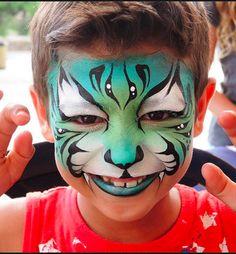 Blue green tiger