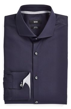6a9e65b6e BOSS 'Jery' WW Slim Fit Easy Iron Solid Dress Shirt available at #Nordstrom