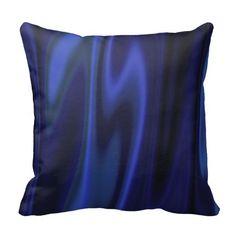 Graphic design of Cobalt Blue Satin Fabric Throw Pillows #beautiful #blue #pillows #zazzle #home #decors #decorative #satin #shining#shines