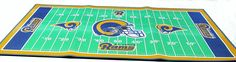 "St Louis Rams 28 X 52"" football field throw rug"