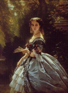 Franz Xaver Winterhalter, Prinses Elizabeth Esperovna Belosselsky Belosenky, Prinses Troubetskoi, 1859, olieverf op doek, 147 x 108 cm, privécollectie