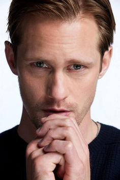 Alexander Skarsgard   This is the guy that's been stalking me! Lol can't wait for season 7!