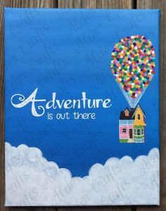 Balloon House Adventure is out there Painting by HPNerdCrafts