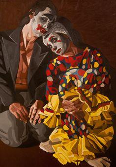 Rhonda Goodhall-Kirk Immanent - 2013 Oil on canvas 130 x 90 cm Carlos Estevez, Carol Bennett, Adrian Martinez, Amy Sol, Bev Doolittle, Alex Garcia, Andrew Jones, Alex Katz, Cirque Du Soleil