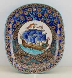 Çini Ustası Sıtkı Olçar Turkish Art, Turkish Tiles, Famous Ceramic Artists, Glazed Tiles, Fancy, Tile Art, Ceramic Plates, Porcelain Tile, Islamic Art
