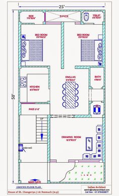 House Plan 25 X 50 Luxury 28 [ House Map Design 25 X 50 ] Of House Plan 25 X 50 Beautiful East Facing House Plans for Site 5 Marla House Plan, 2bhk House Plan, Model House Plan, House Layout Plans, Bungalow House Plans, Bedroom House Plans, House Floor Plans, Home Map Design, Home Design Plans