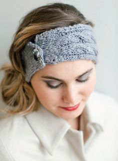 NobleKnits Knitting Blog: Big Apple Headband Free Knitting Pattern