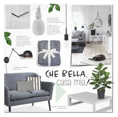 """Che Bella, Casa Mia!"" by alexandrazeres ❤ liked on Polyvore featuring interior, interiors, interior design, home, home decor, interior decorating, Vondom, H. Skjalm P., WALL and Broste Copenhagen"