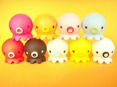 Kitschy Octopus Toy Takochu Plastic Mini Dolls Collection Japan