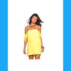 DRAPED CHIFFON  MINI SUN DRESS NWOT DRAPED CHIFFON SLEEVE OFF SHOULDER PARTY MINI SUN DRESS NWOT   One Large and One Medium Dresses Mini