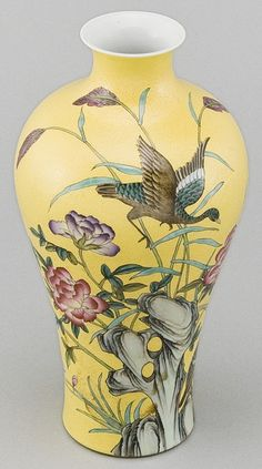 Hand painted embossed porcelain vase from Jingdezhen, China by Silk Road Collection, via Flickr