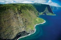 Aerial picture of the island of Molokai, Hawaii                                        17 of the World's Most Wild and Beautiful Places