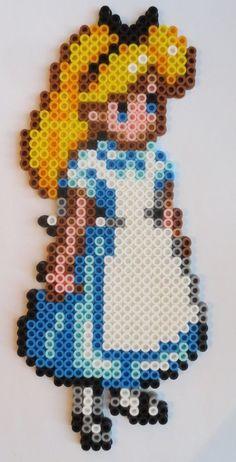 Alice perler bead sprite by screamingbluebird on deviantart