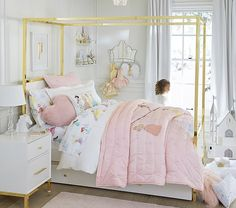 Shop Pottery Barn Kids Disney Princess collection featuring their favorite Princesses. Decorate their rooms with Disney Princess bedding, decor, and more. Girl Room, Girls Bedroom, Bedroom Ideas, Bedroom Decor, Bedroom Inspo, Bedroom Designs, Nursery Ideas, Disney Princess Bedding, Princess Bedrooms