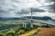 The Millau Viaduct Bridge, near Millau, France