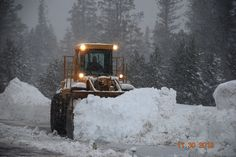our snow removal guys hard at work, Nov. 30th by Mt. Rose Ski Tahoe, via Flickr