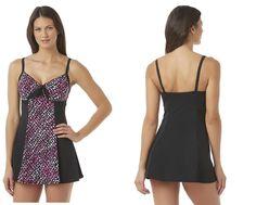 5fc5c11dfe A SHORE FIT Womens Swim Dress Speckle Print nylon spandex size 10 NEW 29.99  http