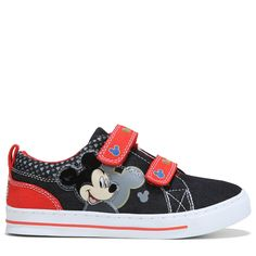 4f5b0ae625312d Mickey Mouse Kids  Mickey Mouse Light Up Sneaker Toddler Preschool Shoes  (Black Red)