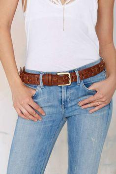ADA Anita Woven Leather Belt - Belts