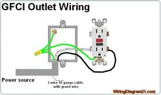 electrical gfci outlet wiring diagram electrical wiring rh pinterest co uk wiring diagram of socket outlet wiring diagram of socket outlet