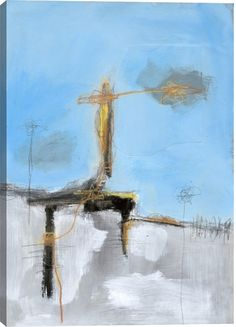 Blue Sky I Abstract Canvas Wall Art Print by T. Graham