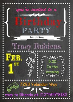 Fun and exciting Birthday Party Invitations. Unique party invitations for your special event. Western Invitations, Bowling Invitations, Art Deco Invitations, 21st Birthday Invitations, Tea Party Invitations, Invitation Card Design, Invites, Movie Invitation, How To Read More
