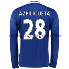 Camisetas De Futbol Chelsea Azpilicueta 28 Primera Equipación Manga Larga 2016-17