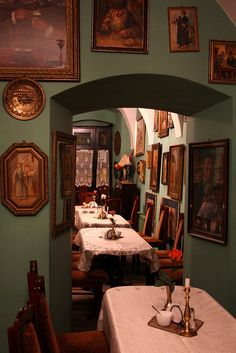 The Ariel restaurant, a jewish restaurant on Szeroka street in the Kazimierz of Krakow