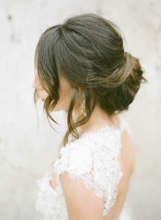 wedding hairstyle idea; KT Merry