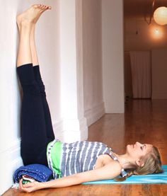 RESTORE yourself this holiday season with yoga! Restorative yoga is a great way to combat stress - 5 minute of legs up the wall before bed does wonders!