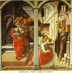 Fra Filippo Lippi. The Annunciation.