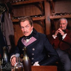 "Tales of Terror (1962) Scene from the second story ""The Black Cat"" featuring Vincent Price (Fortunato Lucrezi) at the wine-tasting competition."