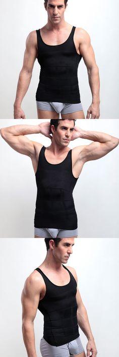 ba148b783 Men s Tight Slimming Body Shaper Sports Thin Tank Tops