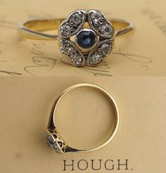 This Edwardian-era diamond and sapphire ring is extremely cool, but not trying too hard. $900
